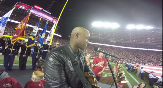 National Anthem.  Thanksgiving. SEA vs. SF. GoPro.